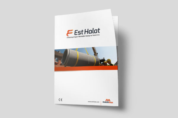 EST halat firma ve ürün katalog çalışması.